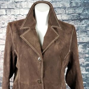Wilsons Leather Jackets & Coats - Wilson Leather Chestnut Brown Suede Coat XL